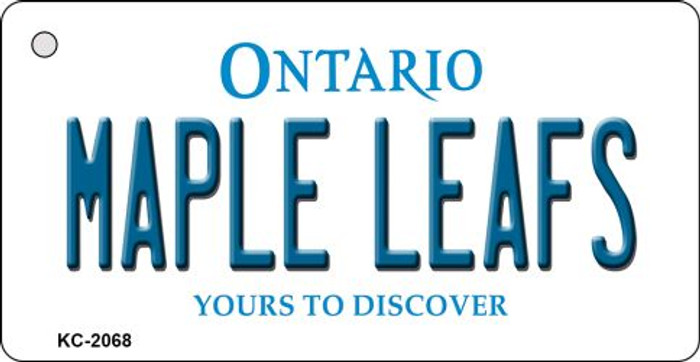 Maple Leafs Ontario State License Plate Key Chain KC-2068