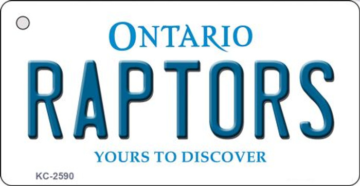 Raptors Ontario State License Plate Key Chain KC-2590