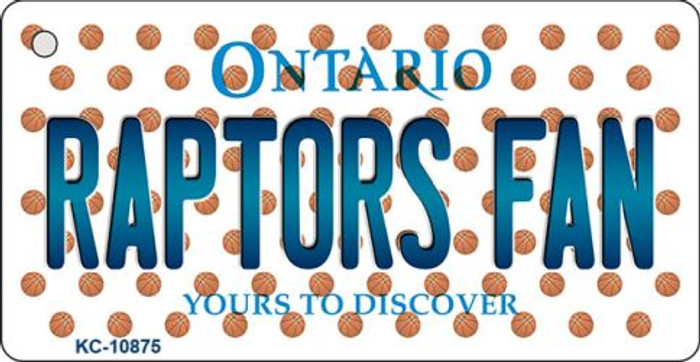 Raptors Fan Ontario State License Plate Key Chain KC-10875