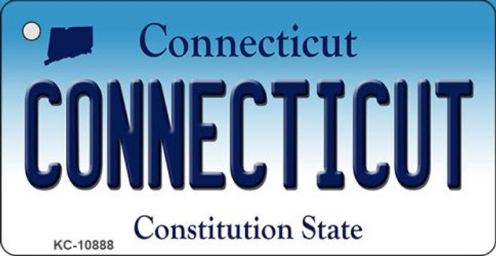 Connecticut State License Plate Key Chain KC-10888