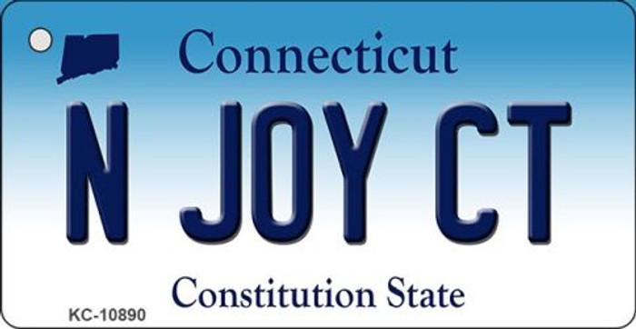N Joy CT Connecticut State License Plate Key Chain KC-10890