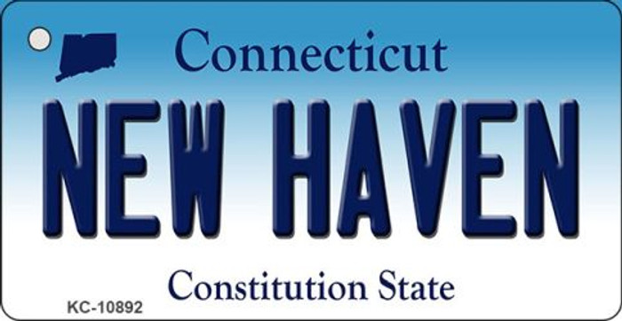 New Haven Connecticut State License Plate Key Chain KC-10892