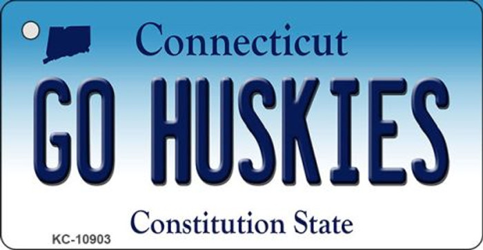 Go Huskies Connecticut State License Plate Key Chain KC-10903