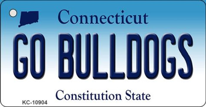 Go Bulldogs Connecticut State License Plate Key Chain KC-10904