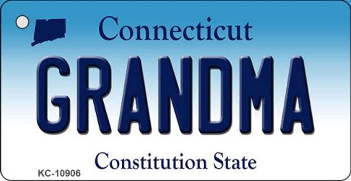 Grandma Connecticut State License Plate Key Chain KC-10906