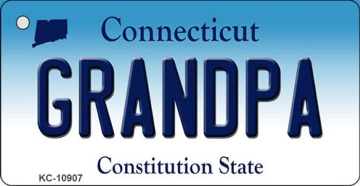 Grandpa Connecticut State License Plate Key Chain KC-10907