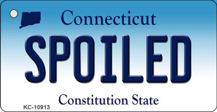 Spoiled Connecticut State License Plate Key Chain KC-10913