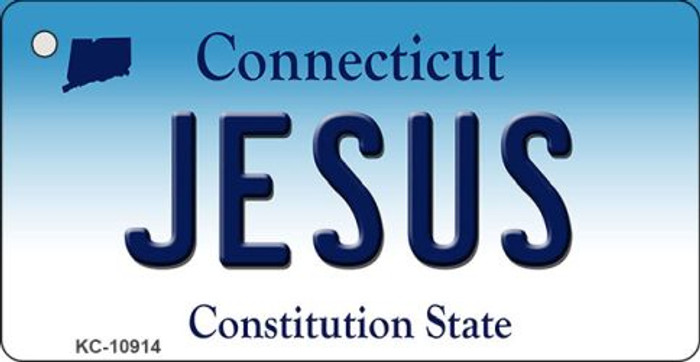 Jesus Connecticut State License Plate Key Chain KC-10914