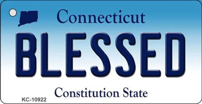 Blessed Connecticut State License Plate Key Chain KC-10922