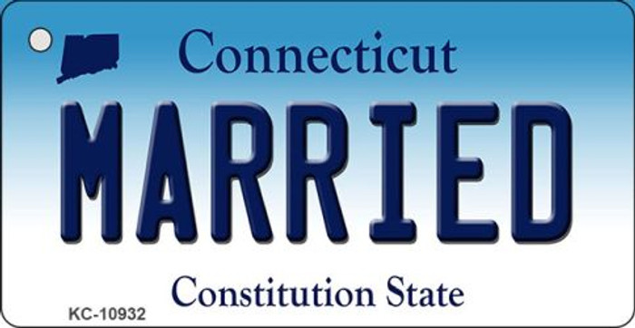 Married Connecticut State License Plate Key Chain KC-10932