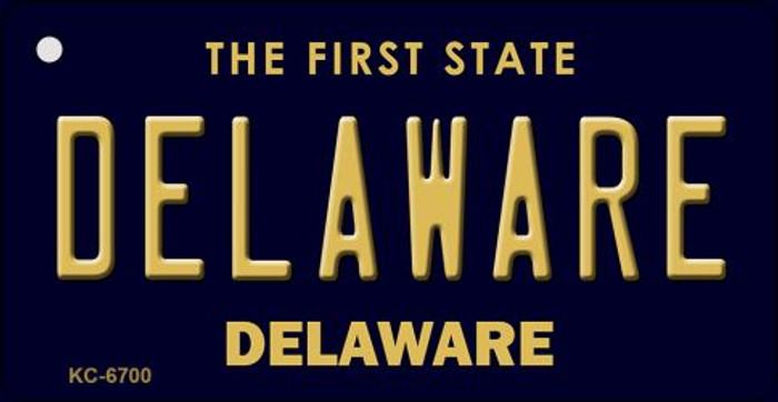 Delaware State License Plate Key Chain KC-6700