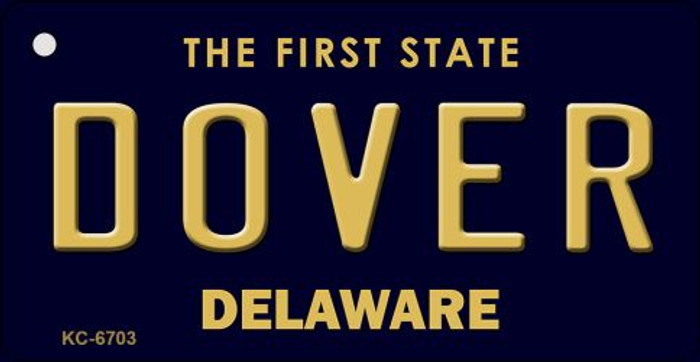 Dover Delaware State License Plate Key Chain KC-6703