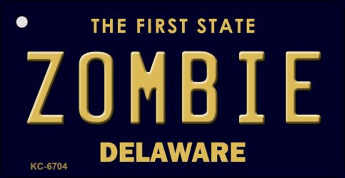 Zombie Delaware State License Plate Key Chain KC-6704