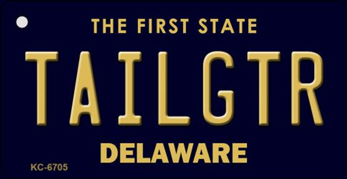 Tailgtr Delaware State License Plate Key Chain KC-6705
