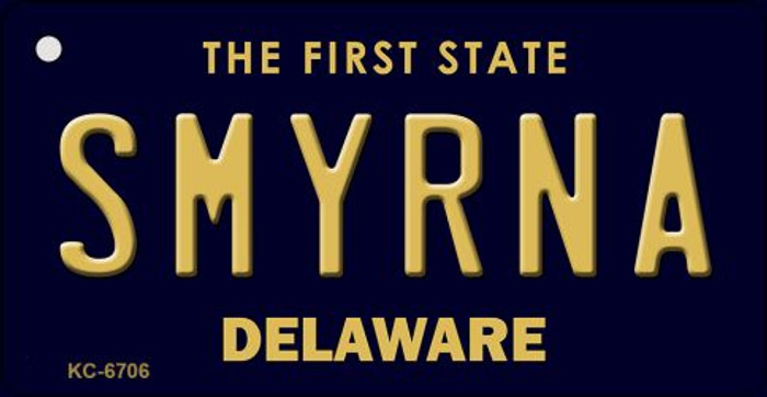 Smyrna Delaware State License Plate Key Chain KC-6706