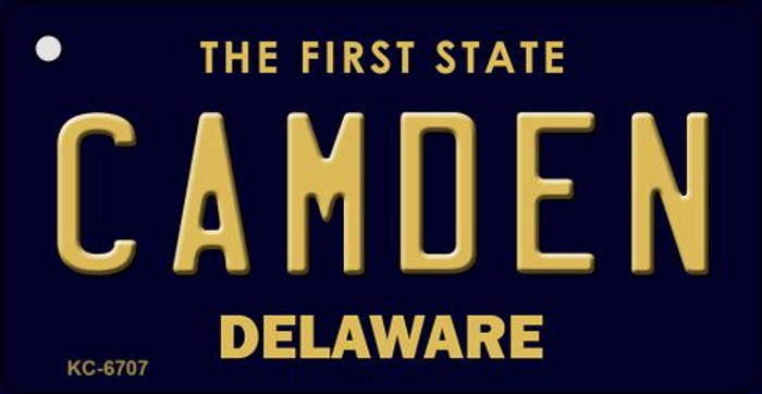Camden Delaware State License Plate Key Chain KC-6707