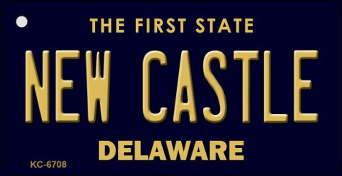 New Castle Delaware State License Plate Key Chain KC-6708