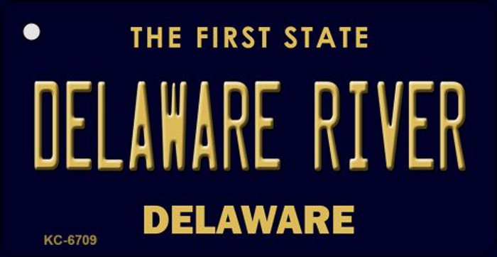 Delaware River State License Plate Key Chain KC-6709
