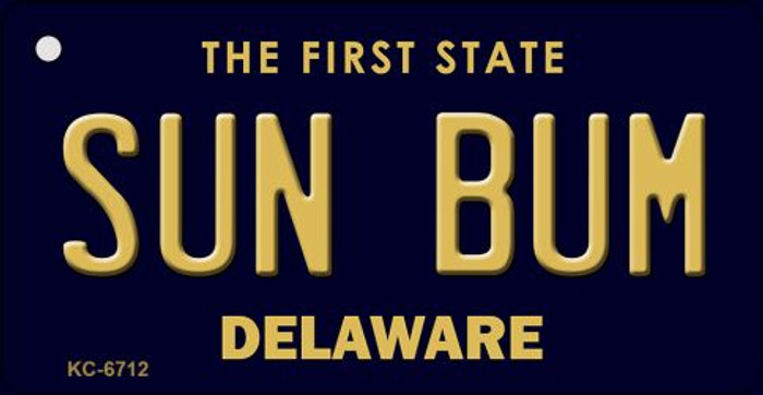 Sun Bum Delaware State License Plate Key Chain KC-6712