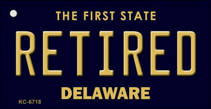 Retired Delaware State License Plate Key Chain KC-6718