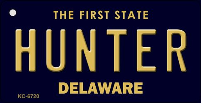 Hunter Delaware State License Plate Key Chain KC-6720