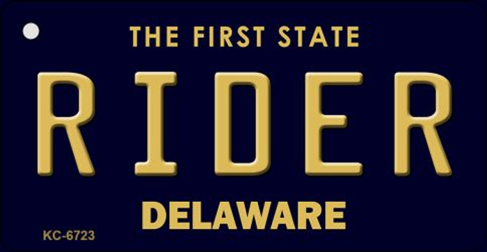 Rider Delaware State License Plate Key Chain KC-6723