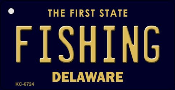Fishing Delaware State License Plate Key Chain KC-6724