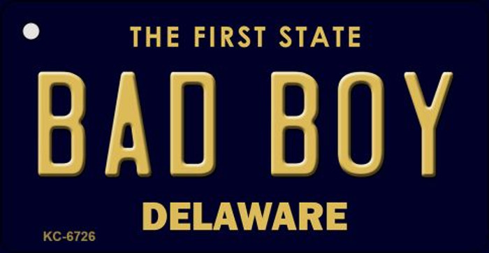 Bad Boy Delaware State License Plate Key Chain KC-6726