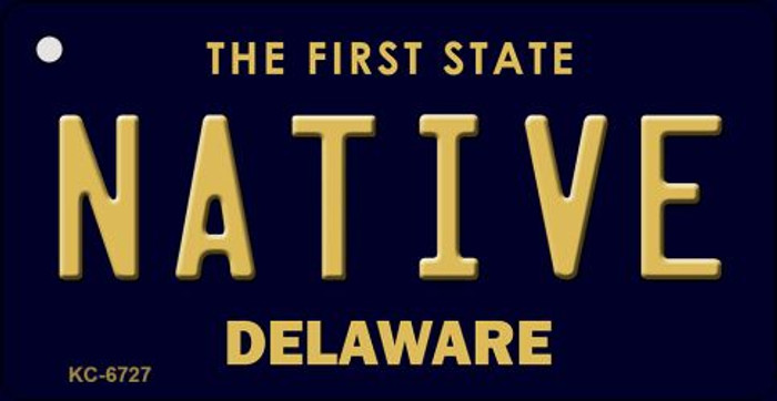 Native Delaware State License Plate Key Chain KC-6727