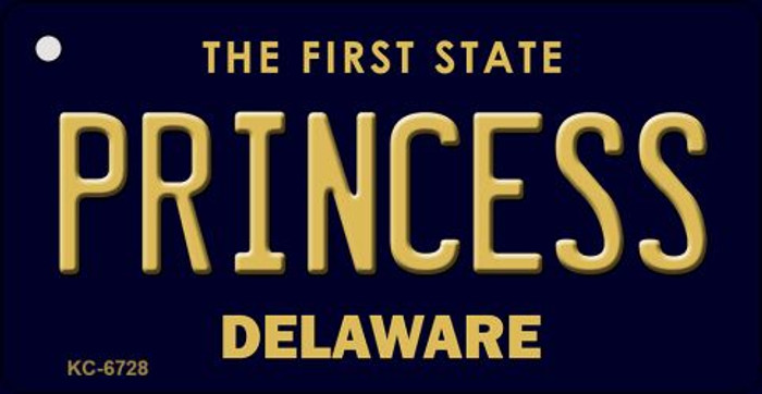 Princess Delaware State License Plate Key Chain KC-6728