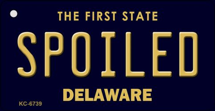 Spoiled Delaware State License Plate Key Chain KC-6739