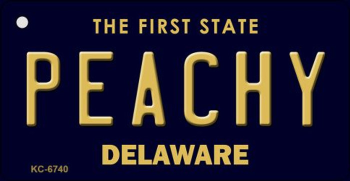 Peachy Delaware State License Plate Key Chain KC-6740