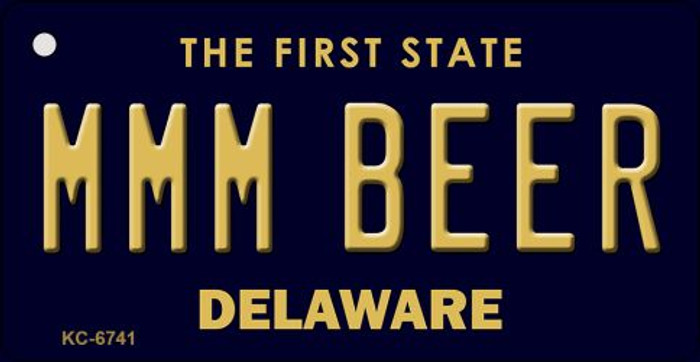 MMM Beer Delaware State License Plate Key Chain KC-6741