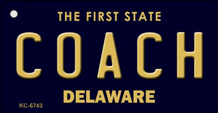 Coach Delaware State License Plate Key Chain KC-6743
