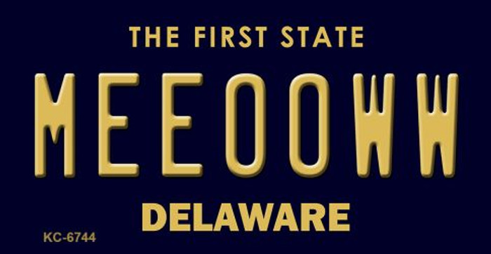 Meeooww Delaware State License Plate Key Chain KC-6744