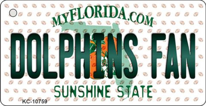 Dolphins Fan Florida State License Plate Key Chain KC-10759