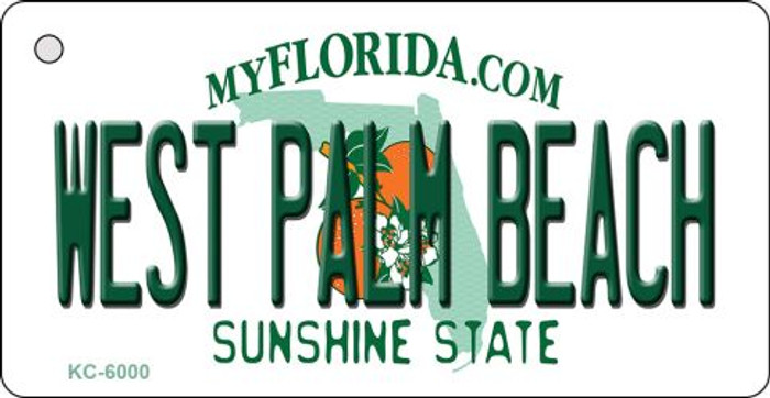 West Palm Beach Florida State License Plate Key Chain KC-6000