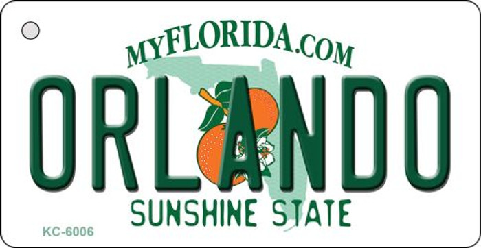 Orlando Florida State License Plate Key Chain KC-6006
