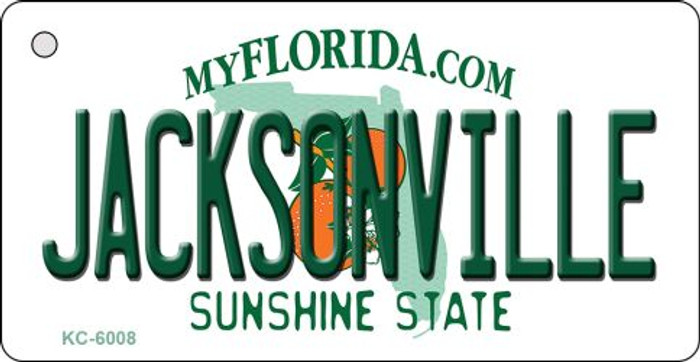 Jacksonville Florida State License Plate Key Chain KC-6008