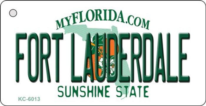 Fort Lauderdale Florida State License Plate Key Chain KC-6013
