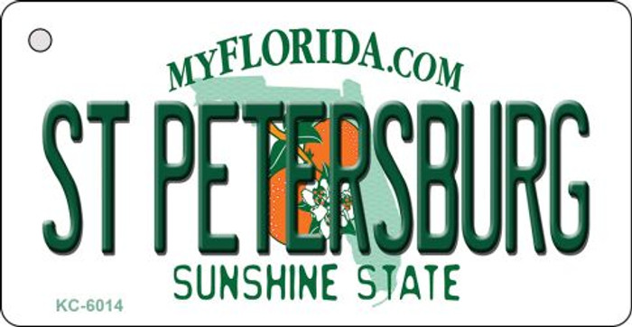 St Petersburg Florida State License Plate Key Chain KC-6014
