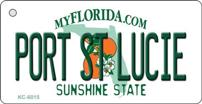 Port St Lucie Florida State License Plate Key Chain KC-6015