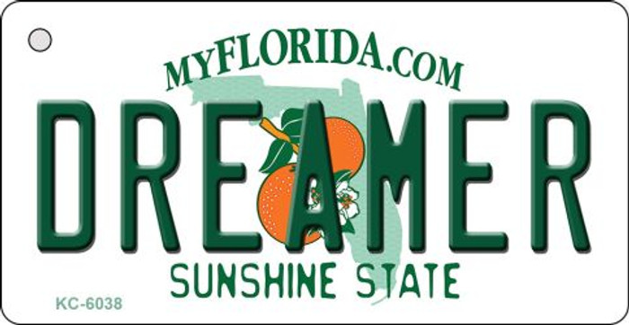 Dreamer Florida State License Plate Key Chain KC-6038