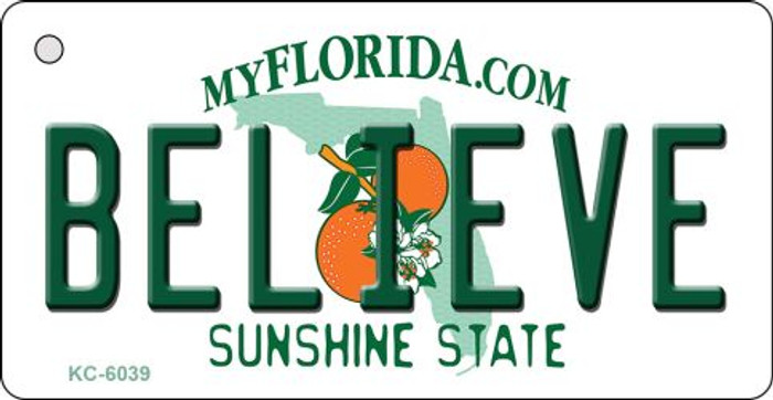 Believe Florida State License Plate Key Chain KC-6039