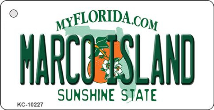 Marco Island Florida State License Plate Key Chain KC-10227