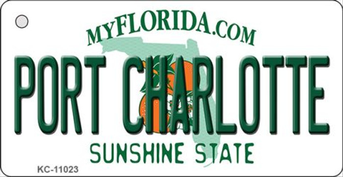 Port Charlotte Florida State License Plate Key Chain KC-11023