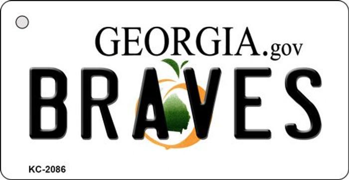 Braves Georgia State License Plate Key Chain KC-2086