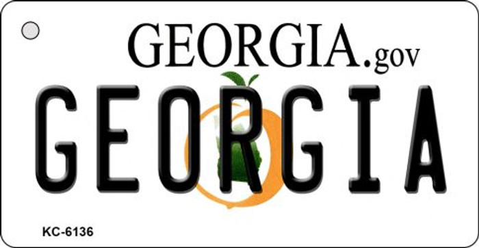 Georgia State License Plate Novelty Key Chain KC-6136