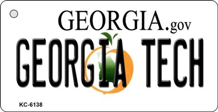 Georgia Tech State License Plate Novelty Key Chain KC-6138