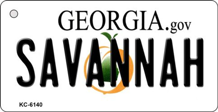 Savannah Georgia State License Plate Novelty Key Chain KC-6140
